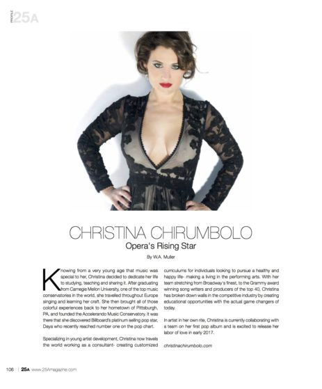 https://issuu.com/25a_magazine/docs/25a_sept_issue/1 christina_chirumbolo_featured_in_25a_magazine